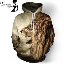 F1387 New Fashion 3D Lion Print Galaxy Hoodies Harajuku Cartoon Sweatshirt Hooded Polluver(China (Mainland))