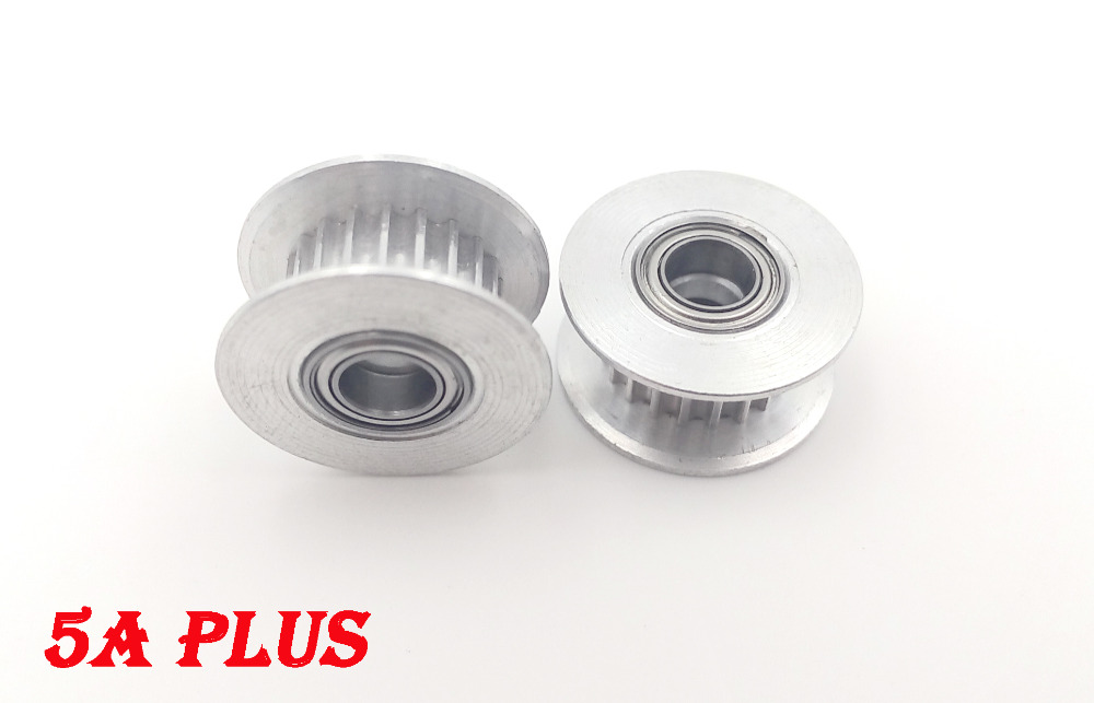 3D Printer Part 5pcs/lot GT2 Timing Belt Idler Pulley Aluminum Pulley 20T ( 20 teeth ) Bore 5mm with Bearing For Belt Width 6mm(China (Mainland))