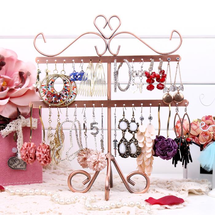 Fish bone shape earrings display shelf stud earrings stand rack jewelry necklace holder fashion pendant hanger storage frame(China (Mainland))