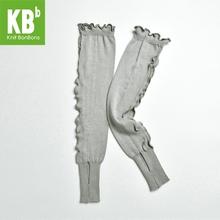 2017 KBB Spring Winter Delicate Female Knit Warm Popular Knitted Gray Frills Style Women Men Leggings Winter Leg Warmer(China (Mainland))