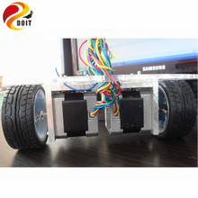 Buy Official DOIT Smart RC Car Chassis Stepper Motor Stepper 42 Robot Contest PCduino UNO R3 DIY Electronic Kit Starter Development for $48.48 in AliExpress store