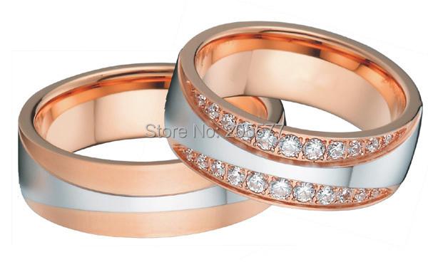 Здесь продается  luxury custom made  western European style bicolor 18k rose gold plating Eternity Infinity Wedding Bands Ring sets  Ювелирные изделия и часы