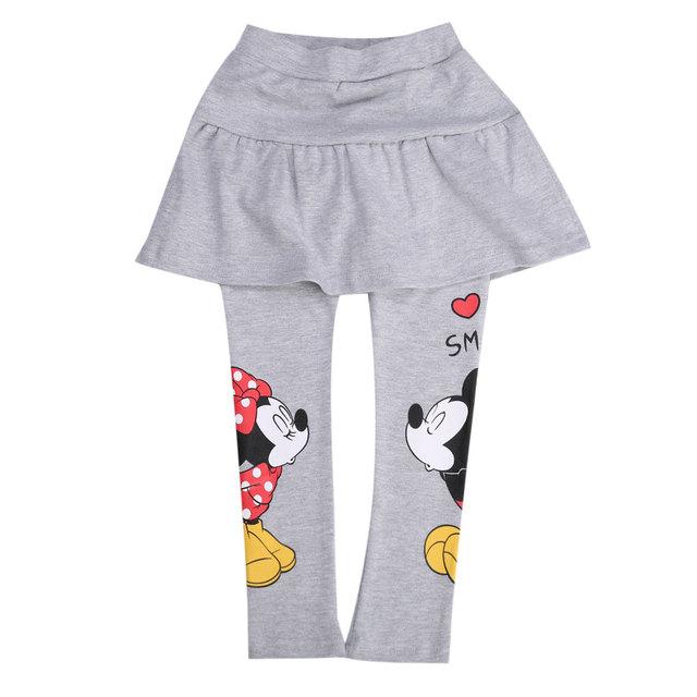 Осень зима 2015 дети новых прибыть мода девушки минни маус девочки брюки детские брюки девушки pantskirt