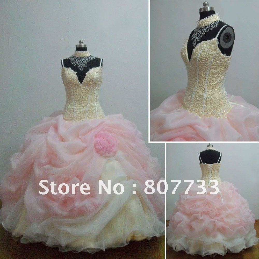 Free Shipping Cost!!! Real Picture Ruffled Organza Ball