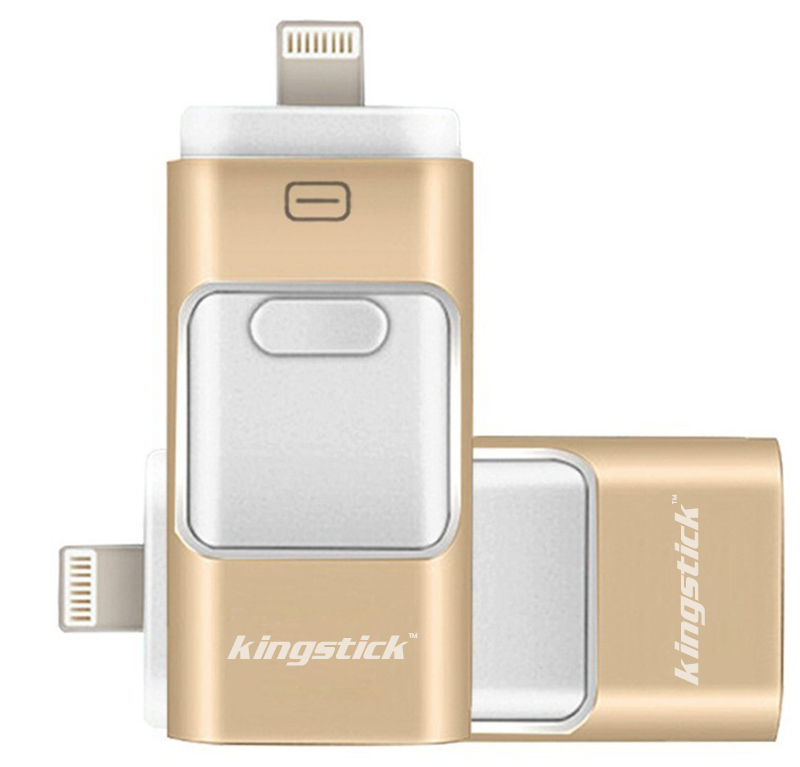kingstick 3 in1 Metal usb flash drive HD memory stick Dual purpose mobile OTG Micro pen drive 8G 16G 32G 64G For iPhone 6s(China (Mainland))