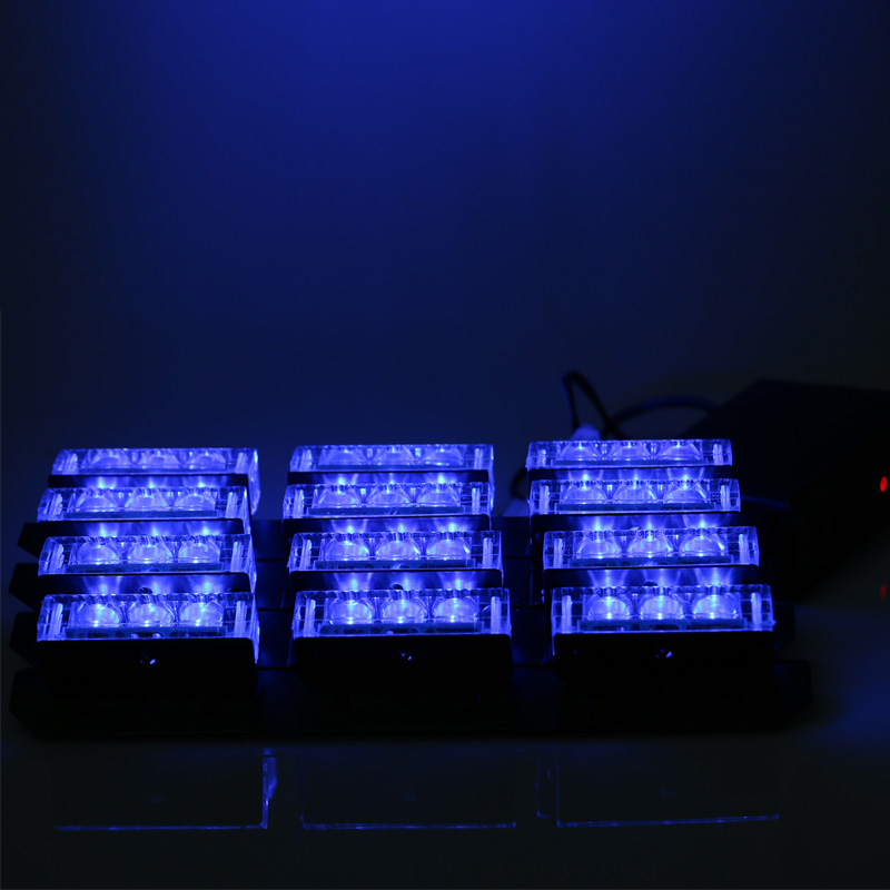 Blue 4x9 Led Strobe Lights 12V Emergency Vehicle Warning Police Light Grill Bar For Cars Boat(China (Mainland))