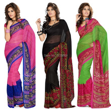 Bollywood Women India Saree Kaftan Sari Dress Clothing Indian Sari(China (Mainland))
