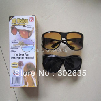 Free shipping 100sets/lot (1set=2pcs) HD High Definition Vision Driving Wrap Around Sunglasses Wraparounds Glasses