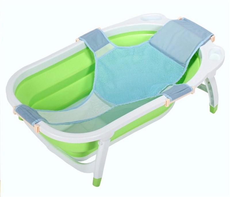2018 Baby Bathtub Net Bath Tub Seat Newborn Security Support Child ...