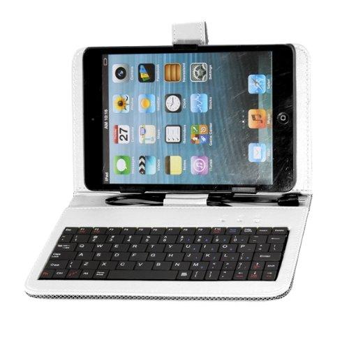 """Гаджет  UESH! Funda Case con Teclado Puntero Soporte para Tablet 7"""" Micro USB Color Blanco None Изготовление под заказ"""