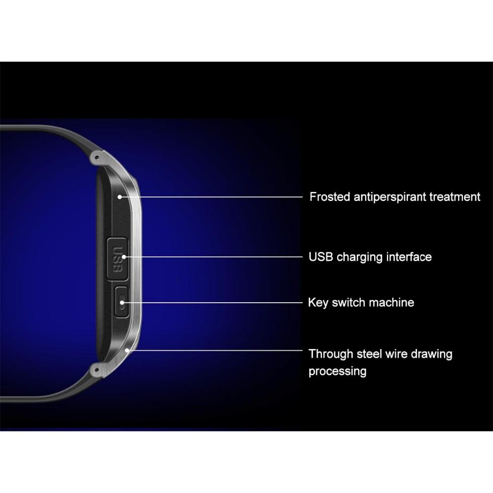 """ถูก กันน้ำPedometerนอนMonitorกีฬาบลูทูธ1.5 """"TFTหน้าจอสัมผัสสมาร์ทนาฬิกาโทรศัพท์+ 1.3 MPกล้องรูเข็มสนับสนุนซิม"""