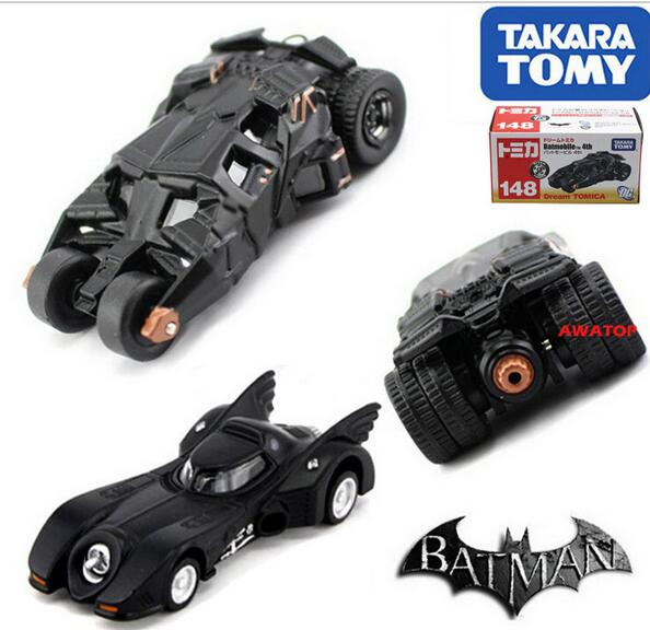 2PCS/SET classic toys tomica tomy dark knight batman batmobile diecast figure tumbler vehicle toy car model for baby No.146/148(China (Mainland))