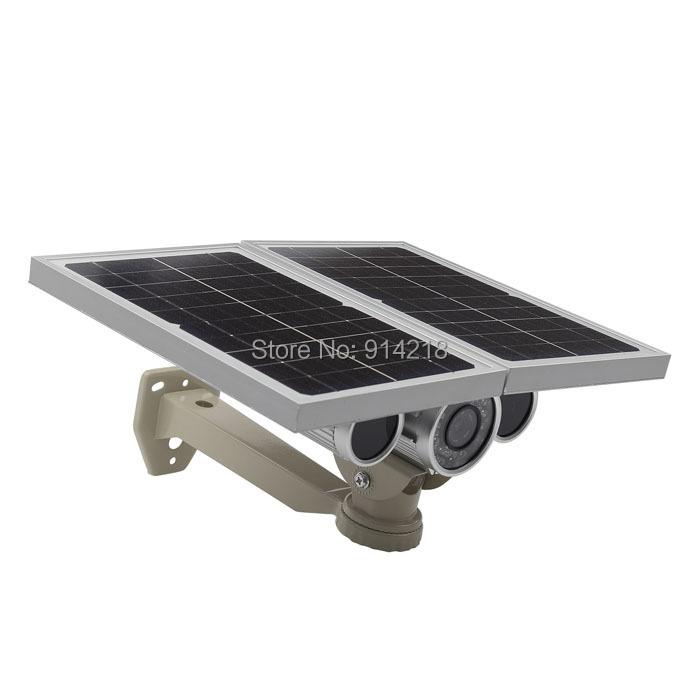 DHL/Fedex free shipping CCTV Solar panel power IR-Cut wifi IP camera P2P supports wireless security night ir solar camera(China (Mainland))