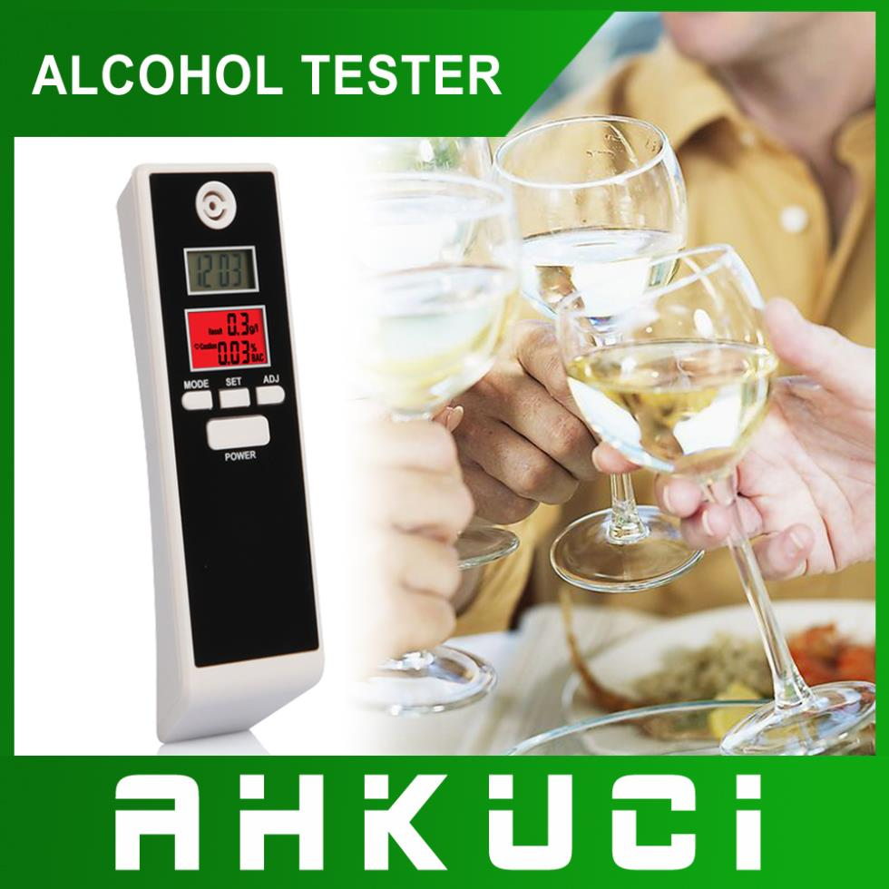 High Sensitivity Digital Alcohol Tester with Dual LCD Screen support Temperature measuring timing + Alam Time Free Shipping(China (Mainland))