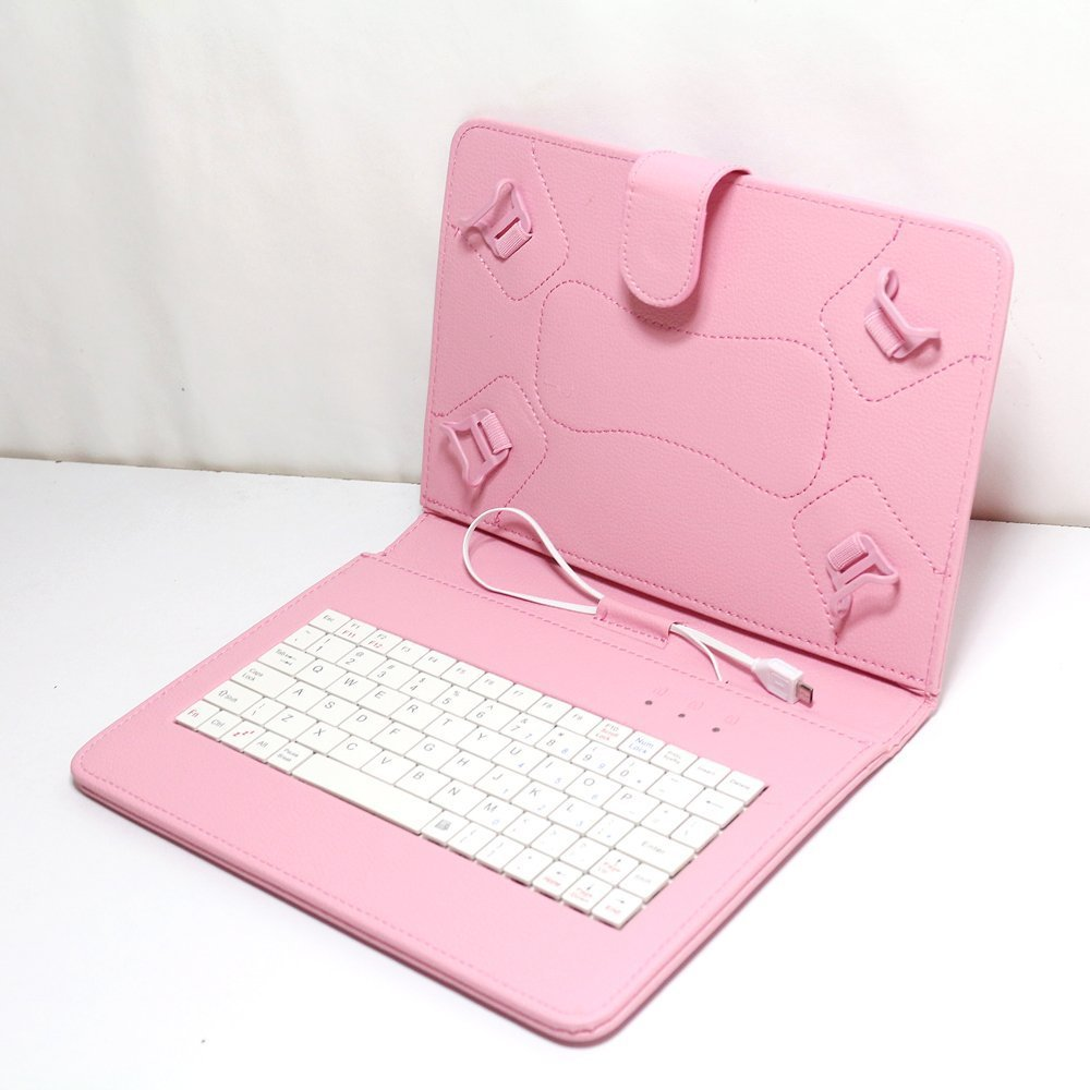 Female love pink tablet keyboard case for Universal 9 inch tablet, good gift for GF, Mother or other female friends(China (Mainland))