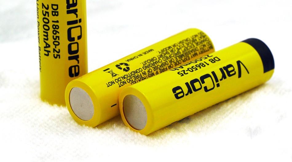 ถูก 4ชิ้นเดิมVariCore 18650 2500มิลลิแอมป์ชั่วโมงLi-lonมาตรฐานแบตเตอรี่3.7โวลต์พลังงานบุหรี่อิเล็กทรอนิกส์แบตเตอรี่20Aปล่อย