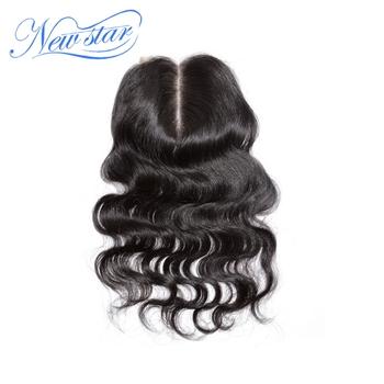 Alibaba new star бразильского виргинские человеческого волоса lace closure среднего часть объемная волна 10-20 дюймов 4*4 дюйма кружева размер DHL бесплатно доставка