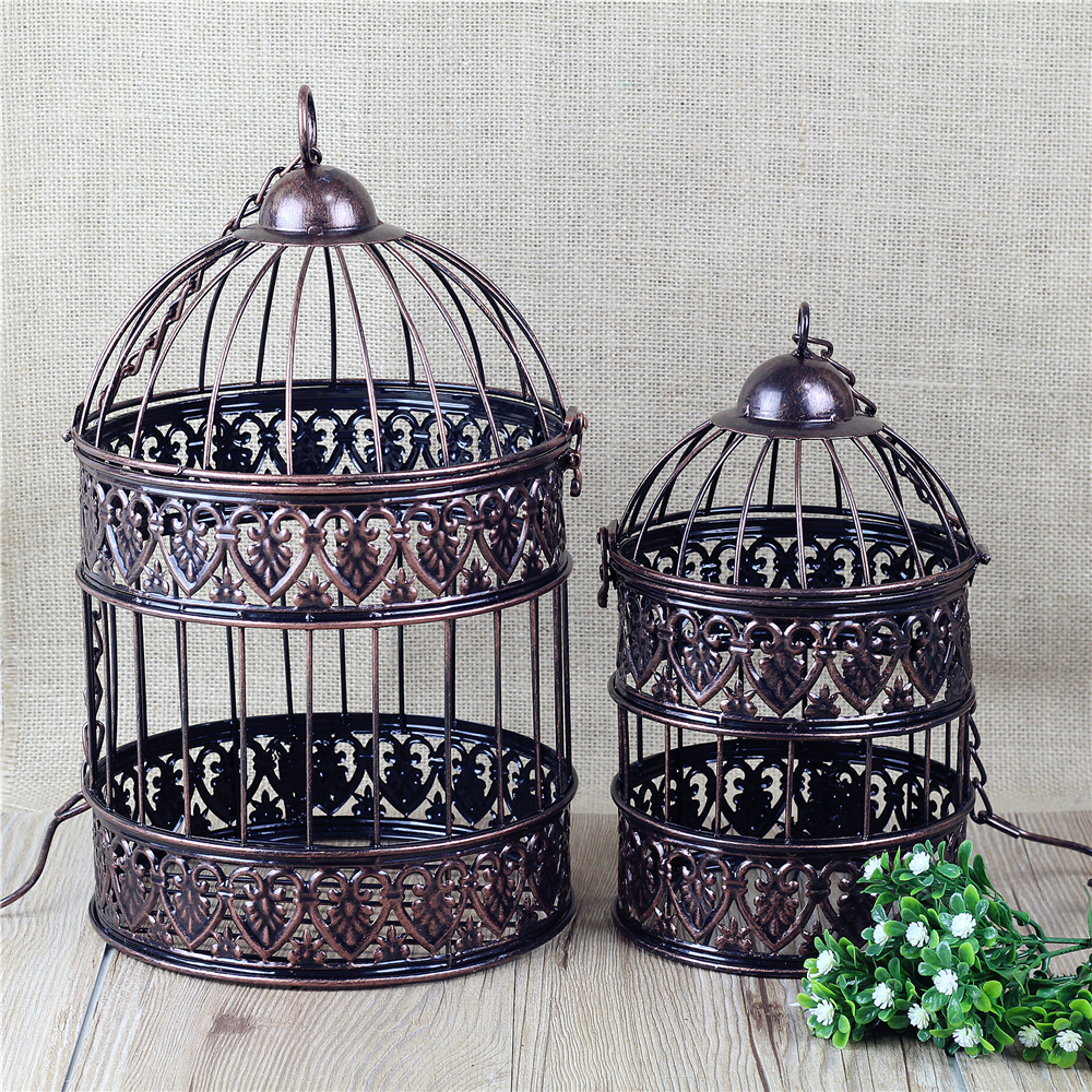 Online get cheap decorative metal bird cages aliexpress for Cheap decorative items