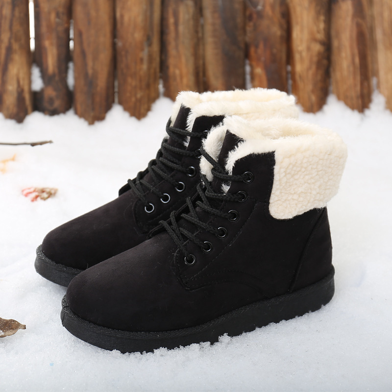 Amazing Fashion Fur Snow Winter Boots Women Boots Heels 2016 Women Ankle Boots