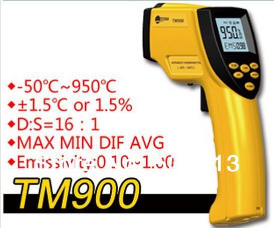 Industrial Medium Temperature Infrared Thermometer TM900 pyrometer Outdoor thermometer Temperature controller Range is -50-950C(China (Mainland))