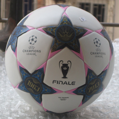 Champions league Best quality Train brand PU soccer ball football hand sewn match or training size 5(China (Mainland))