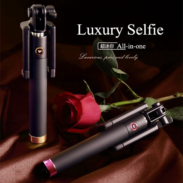 Luxury Universal Selfie Stick Monopod for Iphone 6 Plus 5s Wired Palo Selfie For SAMSUNG Android IOS Groove Camera Para Selfie(China (Mainland))
