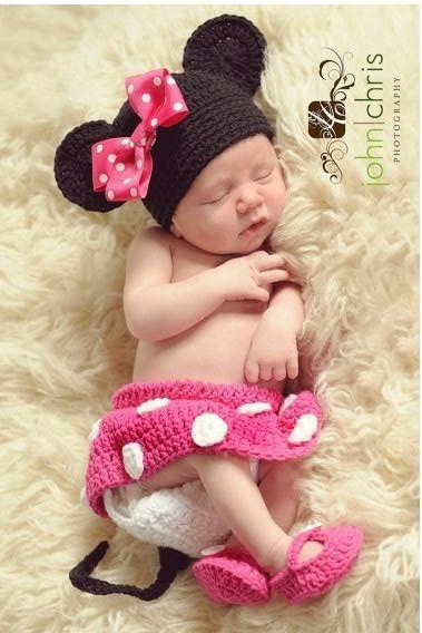 Baby's Sets outfits newborn infant baby boy Girl Beanie caps photography photos props knitted hat clothes sets kids access(China (Mainland))