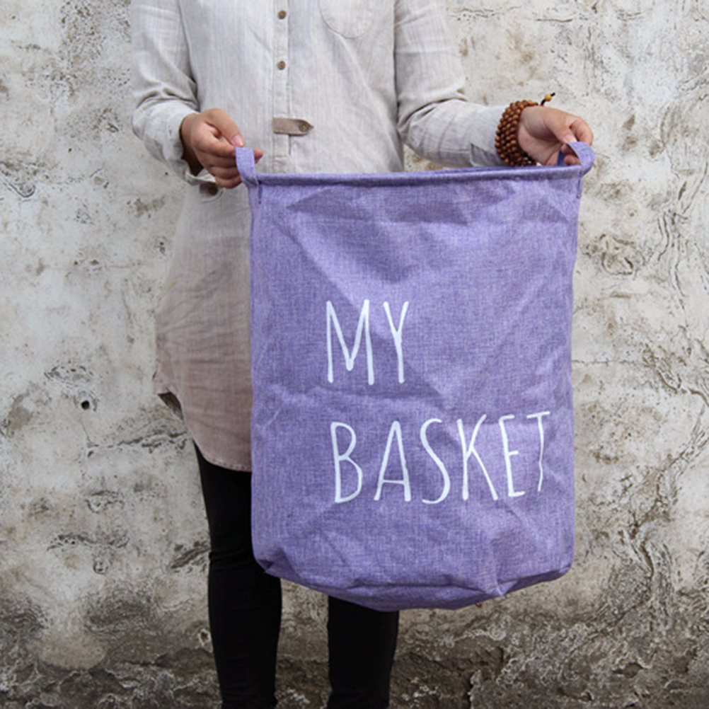 Foldable Round Laundry Hamper Basket Storage Bag Closet Storage Bin Bag Striped Cotton Clothes Beam Port Storage Storage Bag(China (Mainland))
