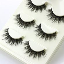 3 pairs /set 3D False Eyelashes Messy Cross Thick Natural Fake Eye Lashes Professional Makeup Tips Bigeye Long False Eye Lashes(China (Mainland))