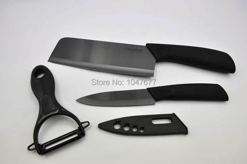 Black Tingitng Ceramic Knife Set Kitchen Knives Cutlery
