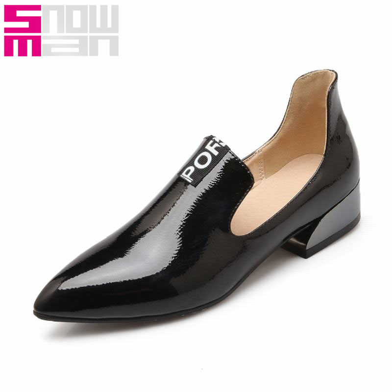 2016 Brand Top Selling Office Women Pumps Fashion Letter Charm Shoes Woman Pointed Toe Zapatos Mujer Hppf Low Heels Spring Shoes<br><br>Aliexpress