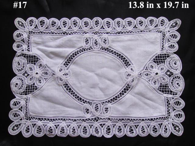 (10 pieces/lot) Retro square table placemat design 7.9 x 11.8 inches pure color cotton lace dinning table mat(China (Mainland))