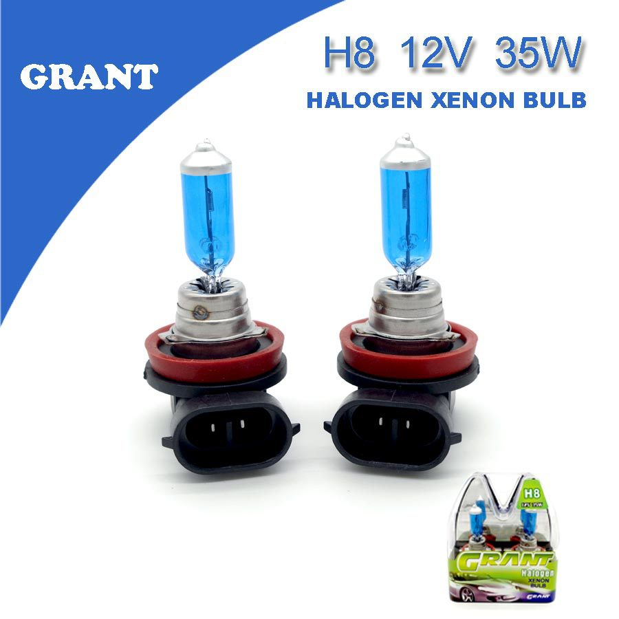 1SET GRANT H8 12V 35W Halogen Xenon Bulbs 5000K Clear White Auto Replacement Fog Lamps Foglights For Car(China (Mainland))