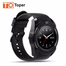 Buy Smart Watch V8 Clock Bluetooth Connectivity Android Phone Sync Notifier Support Sim TF Card MP3 Round Watch Smartwatch Stock for $12.26 in AliExpress store