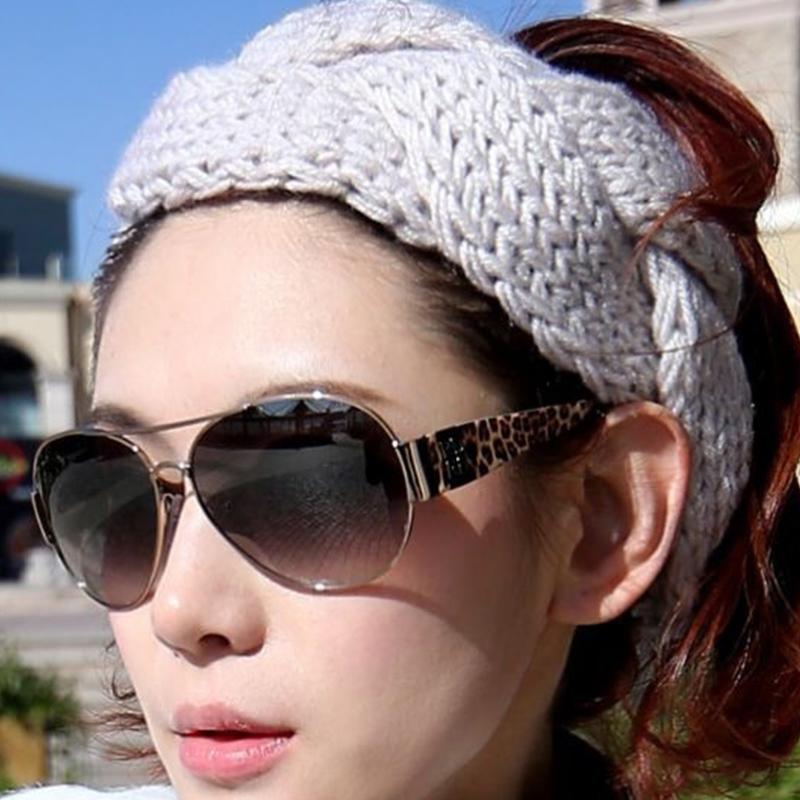1 x Chic Women Hot Crochet Twist Knitted Head wrap Headband Winter Warmer Wide Crochet Hair Band 6 Colors CJJ0320W-60(China (Mainland))