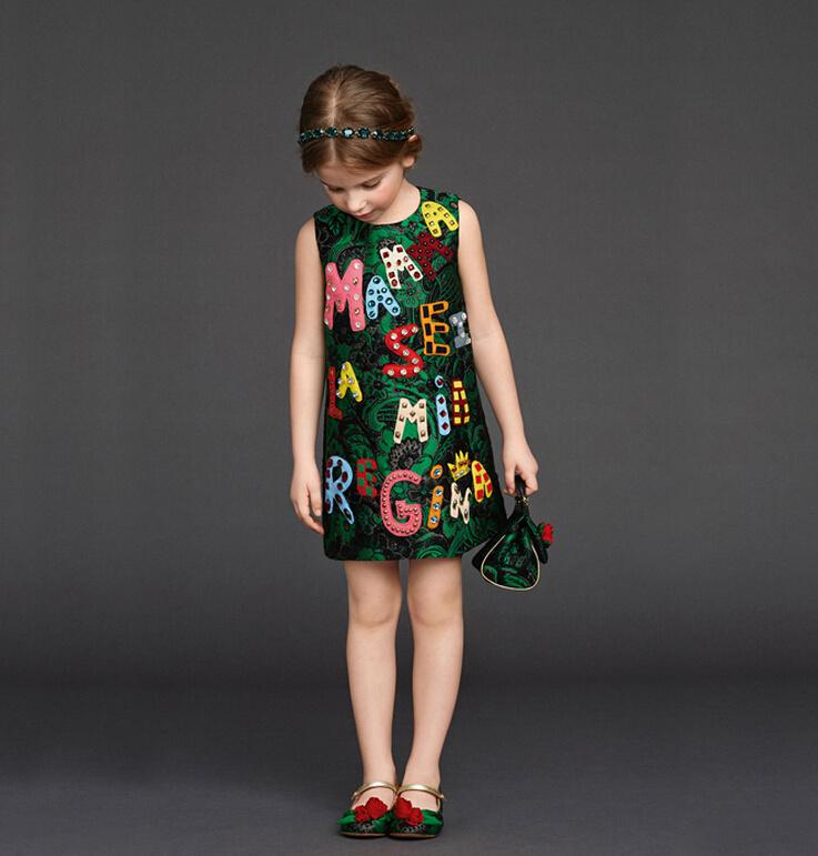High End Luxury 2015 Autumn Girls Dress Brand Designer Kids Clothes Winter Kids Clothes For Baby Girl Dress Princess Dress 3-10Y<br><br>Aliexpress