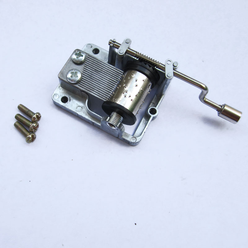 20 Songs for Choose! 18 Notes DIY Mechanism Hand Cranked Music Box Musical Movement Set with Screws(China (Mainland))