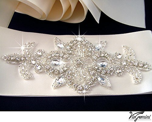 Rhinestone Applique, ART Deco Crystal Applique, Beaded Wedding Beaded Patch for Diy Wedding Accessories.(China (Mainland))
