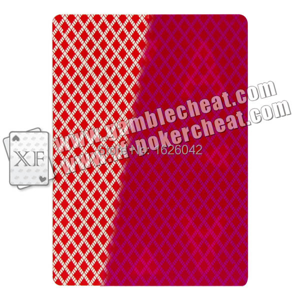 XF USA Bee NO 92 Red Paper Playing cards,custom cards,Marked for UV Contact lense,Cheat in Casino,Gambling to win, Magic Poker(China (Mainland))