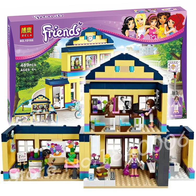 489pcs Bela 10166 Friends DIY Heartlake High School Brinquedos Bricks Toys for Girls Building Blocks Sets Compatible with lego(China (Mainland))