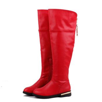 6-16 обувь женская осень лет девушка ПУ Piga сапоги зимние теплые хлопок детская обувь 2015 новых прибытия моды бесплатная доставка