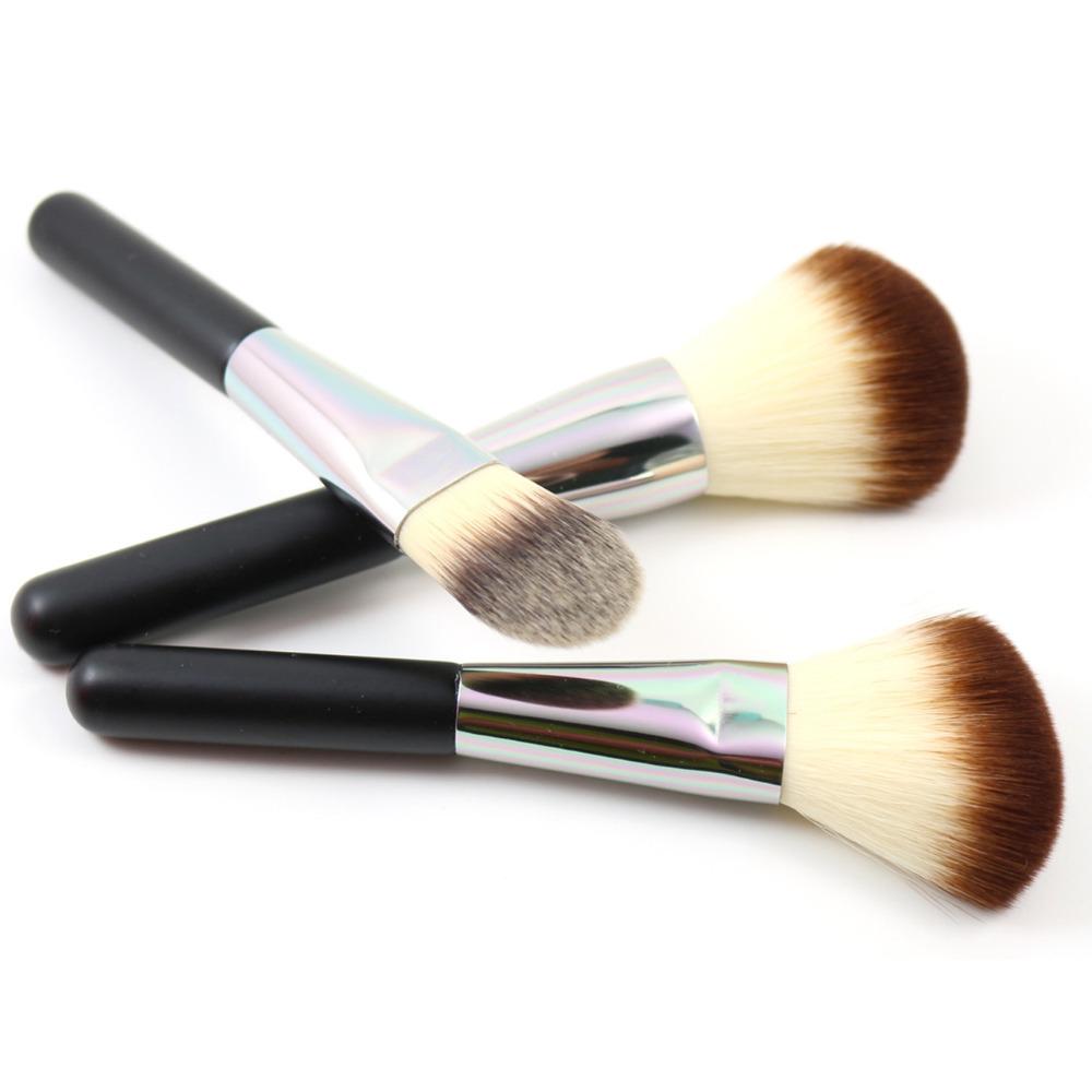 Premium Face Makeup Brushes Set 3Pcs Powder Blush Foundation Brush For Face Makeup Tool(Hong Kong)