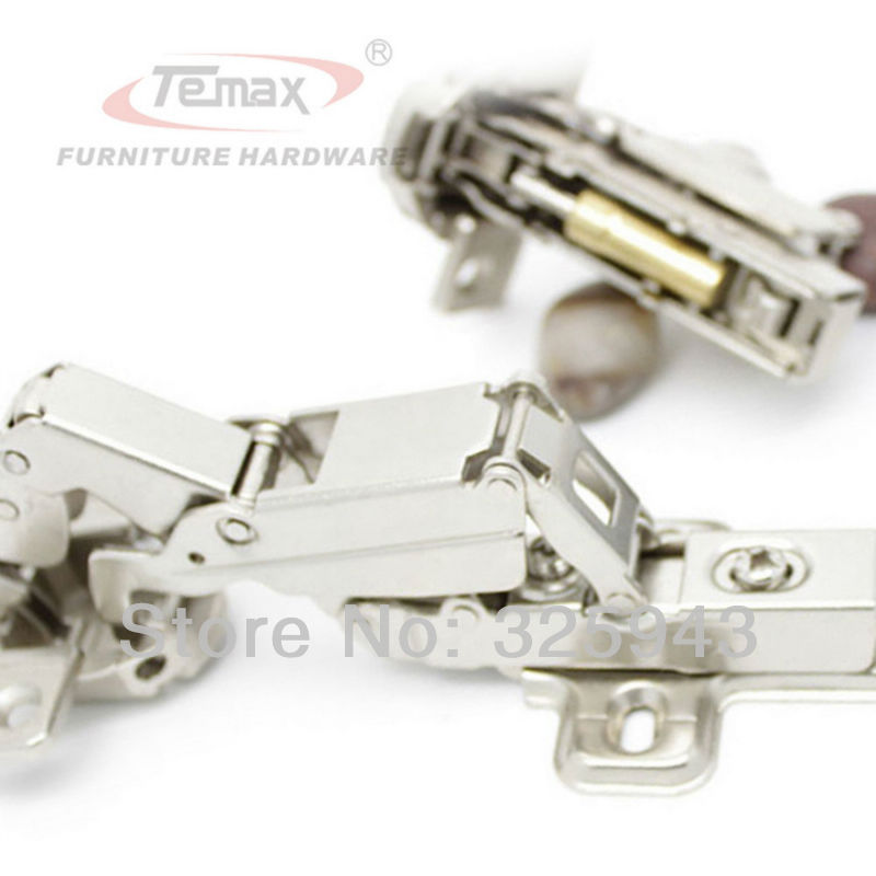 Full overlay Temax Furniture Hinge Steel And Brass Buffer Hydraulic Cabinet Door Hinges 165 degree Clip-on Soft Close(China (Mainland))