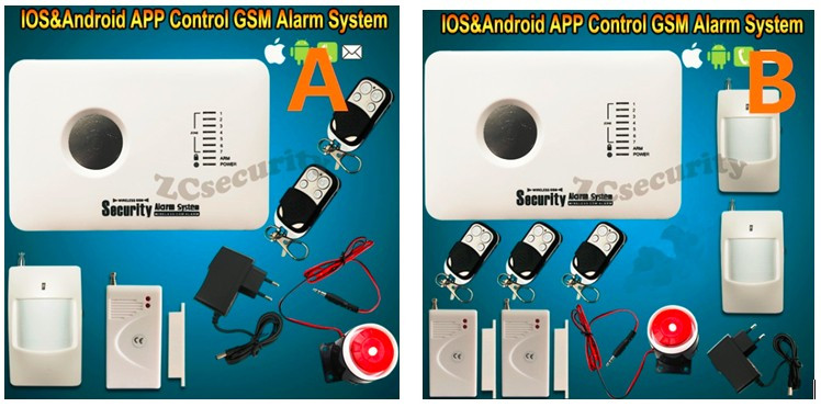 Smarts Russian English Spanish poland slovak Language Android iOS App control Home alarm gsm alarm system wireless alarm system(China (Mainland))