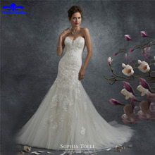 Buy Custom Made Appliques Beading Lace Sexy Mermaid Wedding Dress 2017 Vestido De Noiva Sereia Lace-Up Bridal Gowns Plus Size for $196.24 in AliExpress store