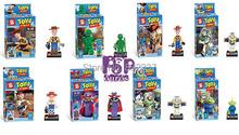 Cute DIY Education Toy Story Buzz Lightyear Figures ABS Toys 5cm(2″) Bricks Building Blocks 8pcs/set