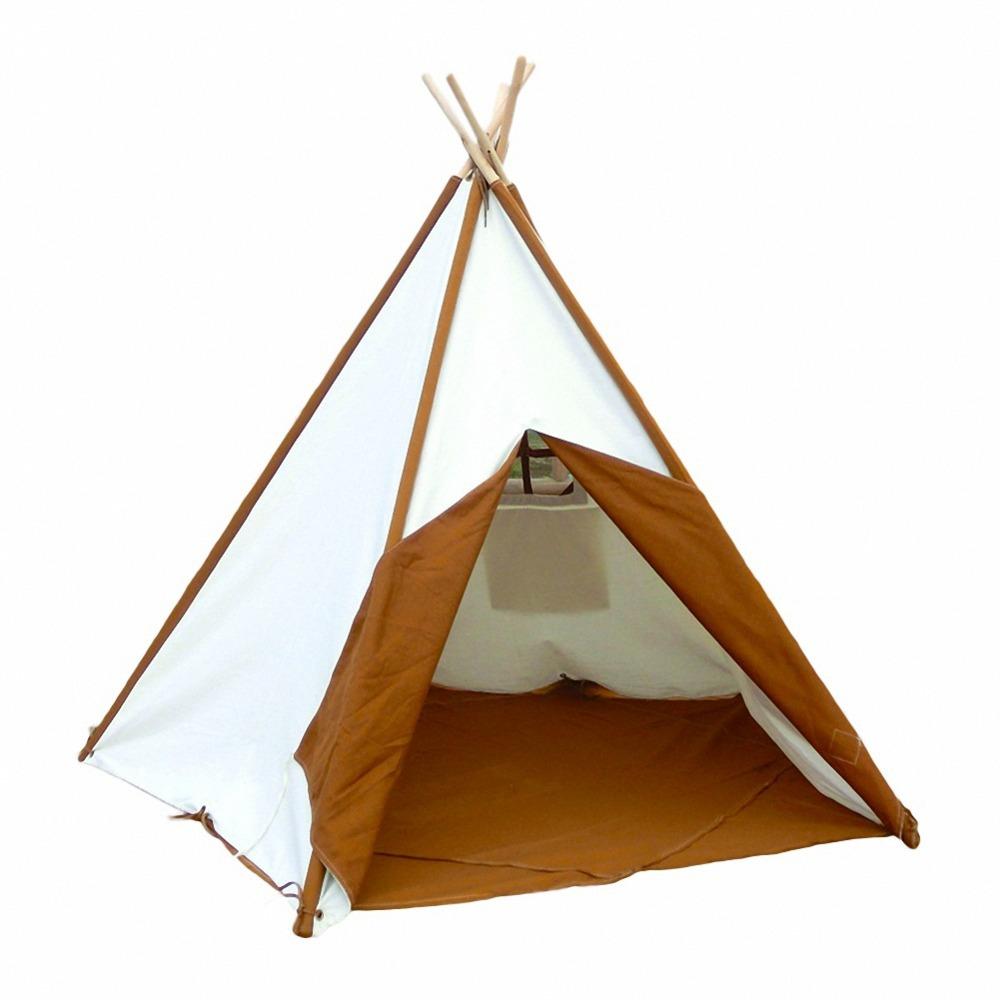 enfants tente tipi pour int rieur et ext rieur comprend coton toile et poteaux de bois cadeau. Black Bedroom Furniture Sets. Home Design Ideas
