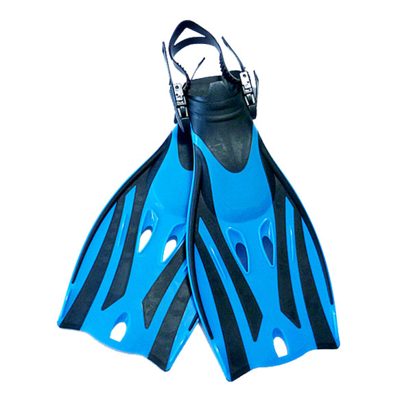 New arrival snorkeling flipper comfortable adjustable blue child diving swimming fins F-22B(China (Mainland))