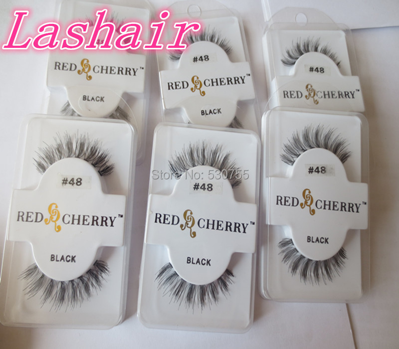 hand made eyelash extension supplies 100% human hair lashes#48(China (Mainland))