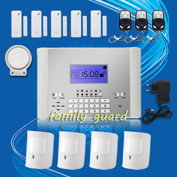 Free Shipping!C388 Wireless GSM SMS Alarm System 99 Defense Zones Long Distance Control For House +4 Pet Immune PIRS+5 Door Gap<br><br>Aliexpress